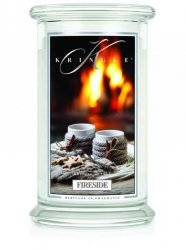 Kringle Candle - Fireside - duży, klasyczny słoik (623g) z 2 knotami