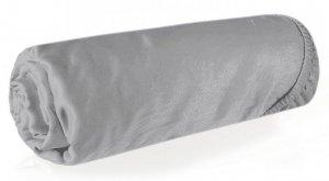 Prześcieradło NOVA3 180X200 z gumką Srebrne Eurofirany