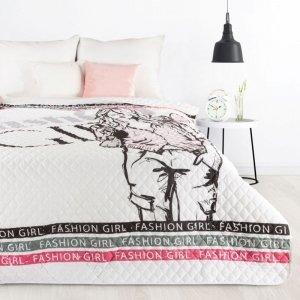 Narzuta DORA Design 91 200X220 Biało Różowa