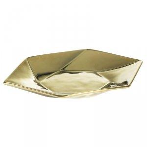 Patera dekoracyjna MUSA 35X20X4 Złoty