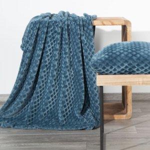 Koc Narzuta BELA 150X200 Niebieski Design 91