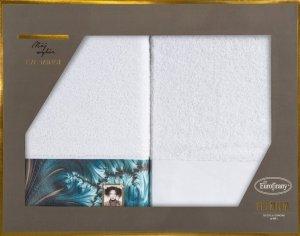 Eva Minge Komplet Ręczników CHIARA 50x90 Biały Eurofirany