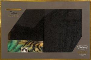 Eva Minge Komplet Ręczników COLLIN 70x140 Czarny Eurofirany