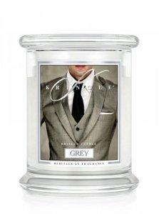 Kringle Candle - Grey - średni, klasyczny słoik (411g) z 2 knotami