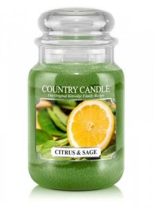 Country Candle - Citrus and Sage - Duży słoik (652g) 2 knoty