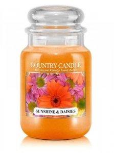 Country Candle - Sunshine & Daisies - Duży słoik (652g) 2 knoty
