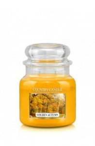 Country Candle - Golden Autumn-  Średni słoik (453g) 2 knoty