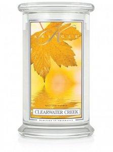 Kringle Candle - Clearwater Creek - duży, klasyczny słoik (623g) z 2 knotami