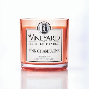 Kringle Candle - Pink Champagne - Tumbler (1700g) z 4 knotami