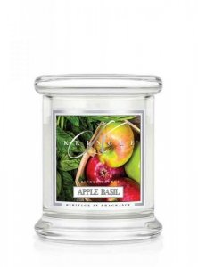 Kringle Candle - Apple Basil - mini, klasyczny słoik (128g)