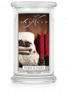 Kringle Candle - Warm and Fuzzy - duży, klasyczny słoik (623g) z 2 knotami