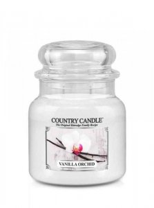 Country Candle - Vanilla Orchid -  Średni słoik (453g) 2 knoty