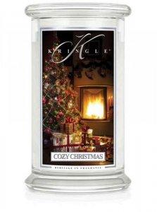 Kringle Candle - Cozy Christmas - duży, klasyczny słoik (623g) z 2 knotami