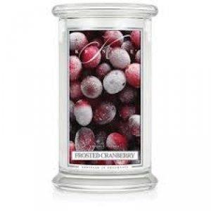 Kringle Candle - Frosted Cranberry - duży, klasyczny słoik (623g) z 2 knotami