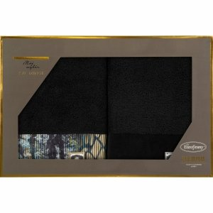 Eva Minge Komplet Ręczników CARLA 70x140 Czarny Eurofirany