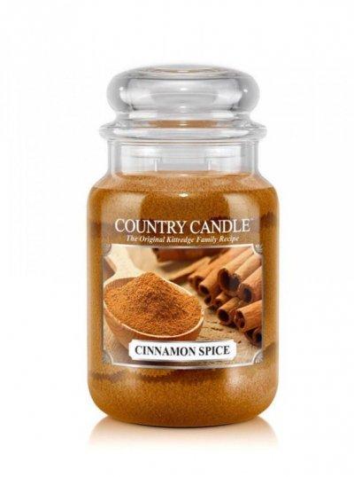 Country Candle - Cinnamon Spice - Duży słoik (652g) 2 knoty