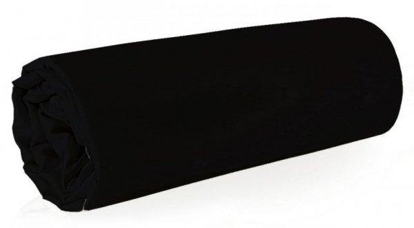 Prześcieradło NOVA z makosatyny 180X210 Czarne Eurofirany