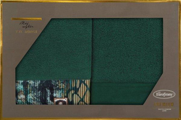 Eva Minge Komplet Ręczników CARLA 50x90 Ciemny Zielony Eurofirany