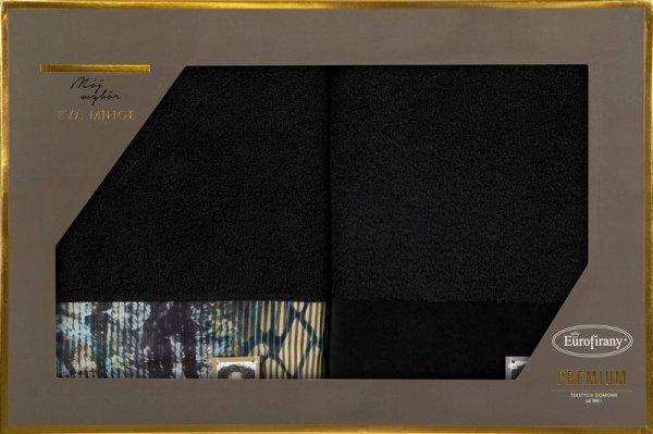 Eva Minge Komplet Ręczników CARLA 50x90 Czarny Eurofirany
