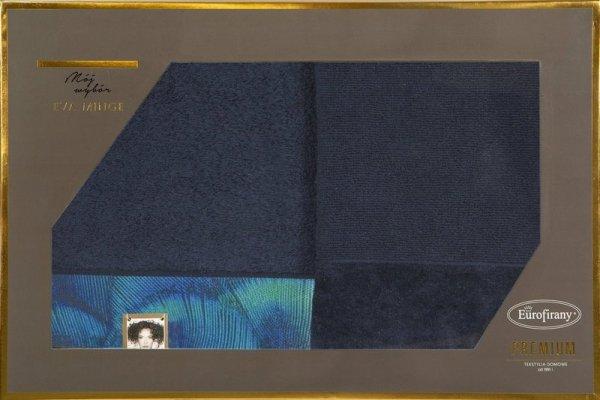 Eva Minge Komplet Ręczników CAMILA 70x140 Granatowy Eurofirany