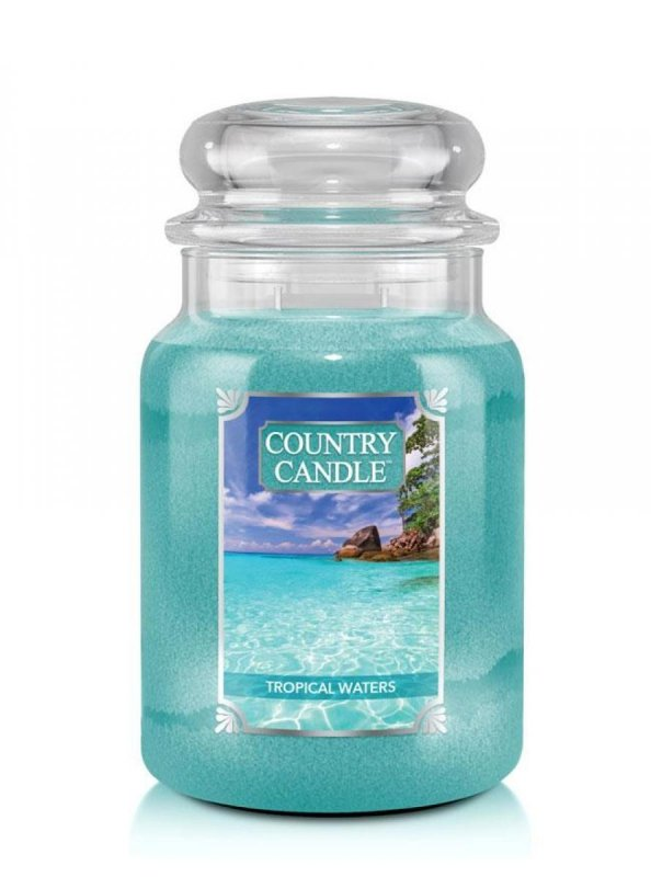 Country Candle - Tropical Waters - Duży słoik (652g) 2 knoty