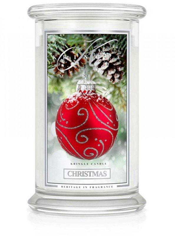 Kringle Candle - Christmas - duży, klasyczny słoik (623g) z 2 knotami