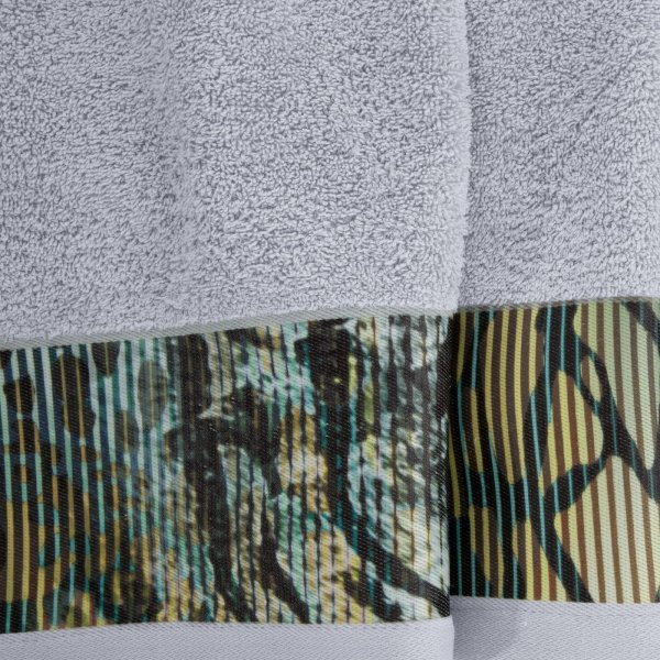 Eva Minge Komplet Ręczników CARLA 50x90 Srebrny Eurofirany