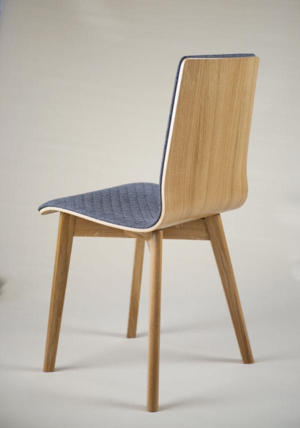 LUKA SOFT W -  krzesło dębowe, pikowana tkanina