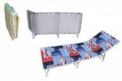 Łóżko polowe ,składane IBIZA materac3cm i zagłówek