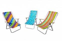 Leżak plażowy MAGDA składany na pół tkanina