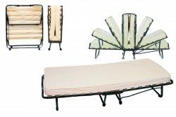 Do wynajęcia Wytrzymałe łóżko na kółkach 200x90 LUKSOR- ecri