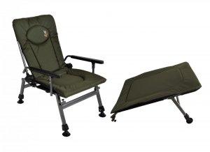 Fotel wędkarski CARP F5R z podnóżkiem, wytrzymałość 120 kg