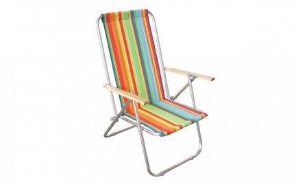Aluminiowy leżak plażowy -dwupozycyjne wygodne krzesełko