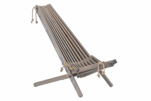 Leżak drewniany EcoFurn EcoChair Sosna Szary Olej