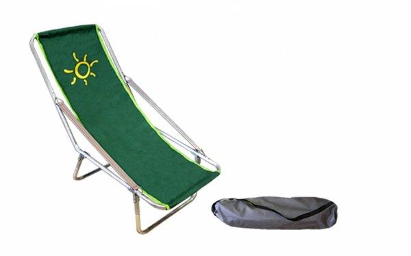 leżak składany do worka zielony