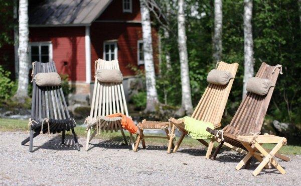 Stolik podnóżek drewniany EcoFurn Dąb Teak olej