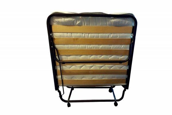 Łóżko polowe składane Dostawka Hotelowa  Luxor 90 x 200 cm materac 10 cm  kółka