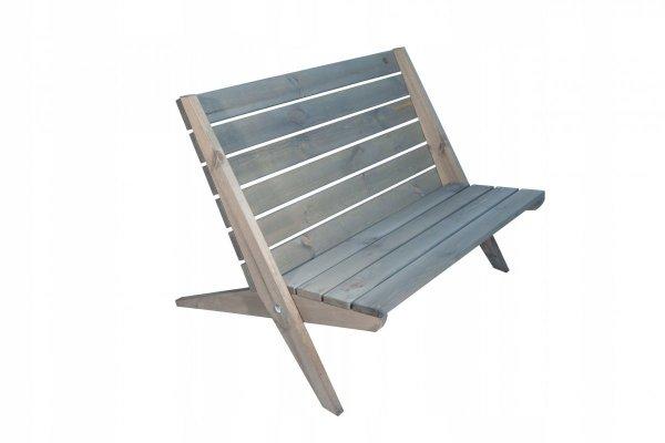 Leżak Fotel podwójny EcoFurn Granny Sosna Biały Olejowan