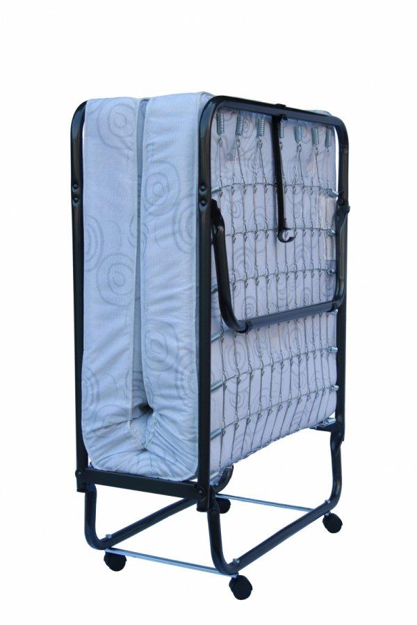 Łóżko składane / polowe, dostawka hotelowa TORINO 190 x 80 cm z pokrowcem