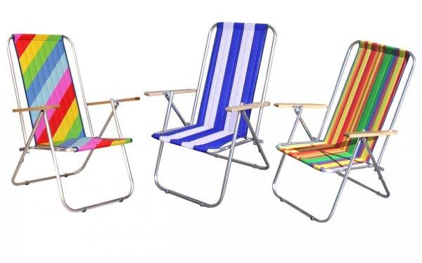 Leżak plażowy rurka aluminiowa dwupozycyjne krzesełko