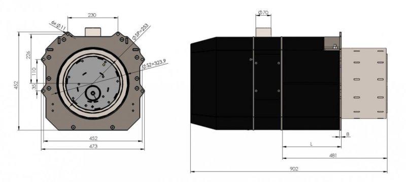 Palnik obrotowy na pellet ecoMax 860 35 - 200 KW