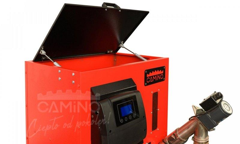 Camino 4 Slim - żeliwny kocioł na pellet z podajnikiem o mocy 15 KW EcoMax 860 simTOUCH ST4 Seperate