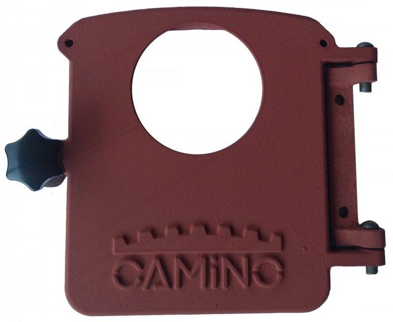 Kompletne drzwiczki popielnikowe przeznaczone do montażu palnika na pellet.