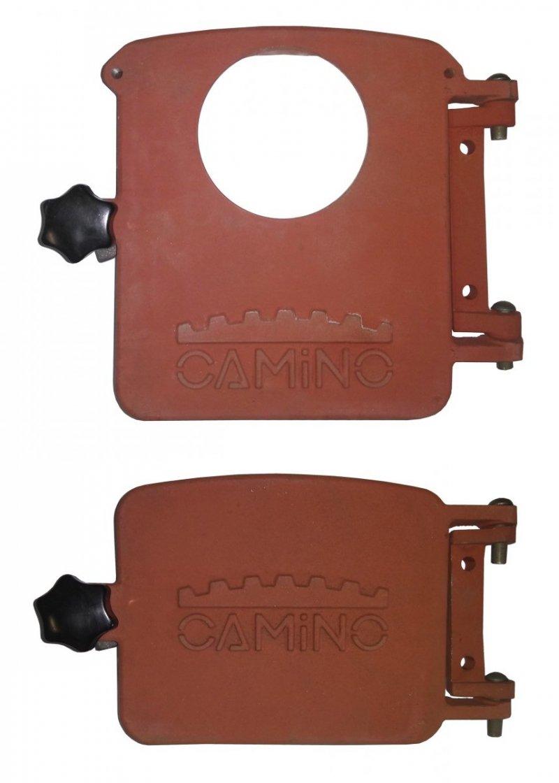 Komplet drzwiczek przeznaczonych do montażu palnika na pellet.