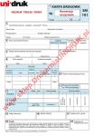 Karta drogowa SM 101 z danymi firmowymi