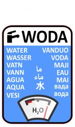 Naklejka WODA