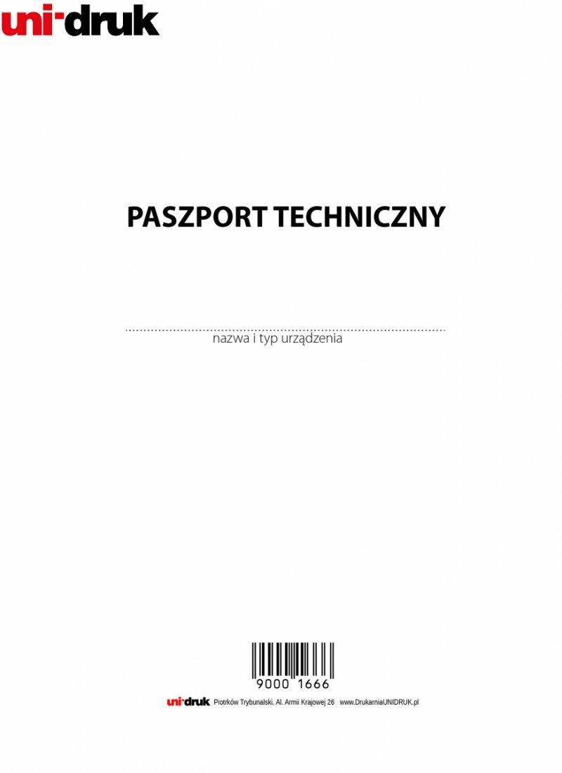 Paszport techniczny urządzenia medycznego A5