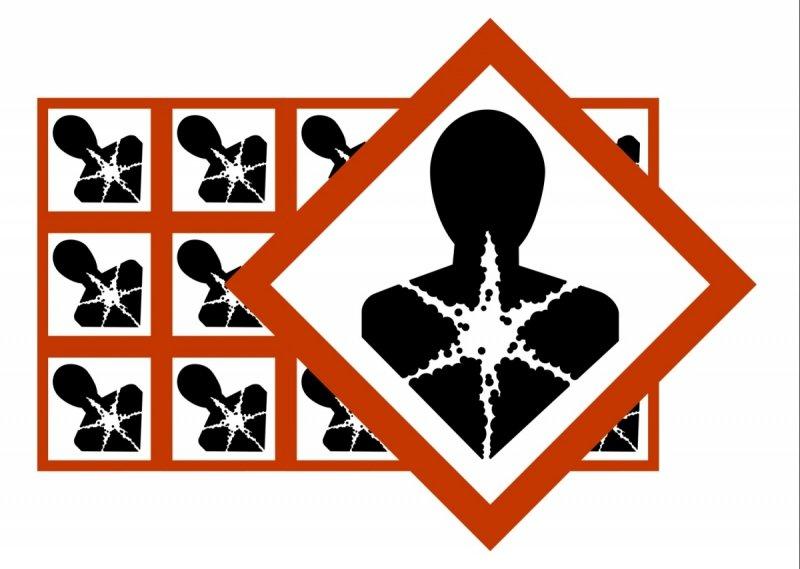 Naklejki BHP GHS08 Substancje niebezpieczne dla zdrowia