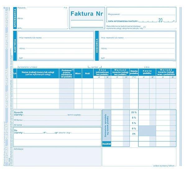 Faktura VAT 2 kopie 112-2E