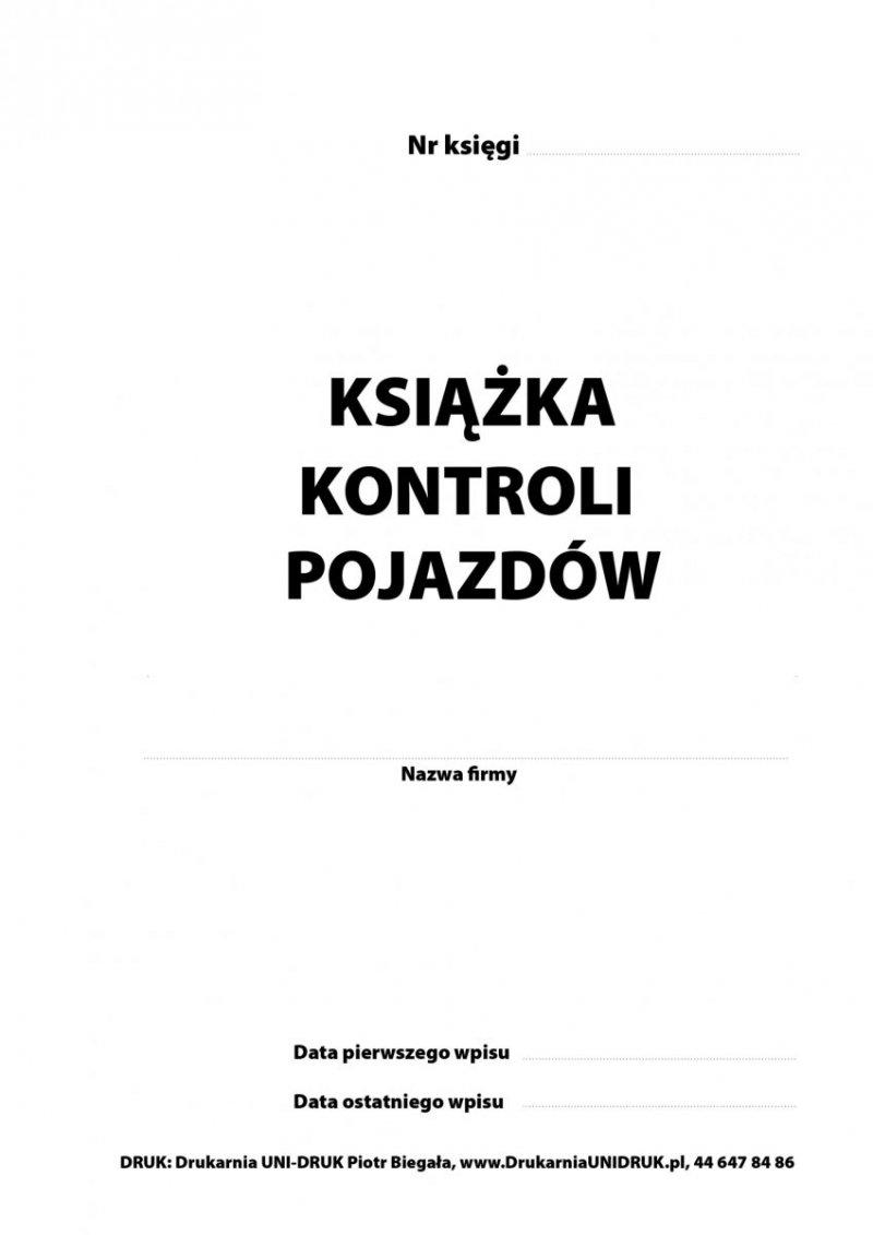 Książka Kontroli Pojazdów A-4 opr. twarda